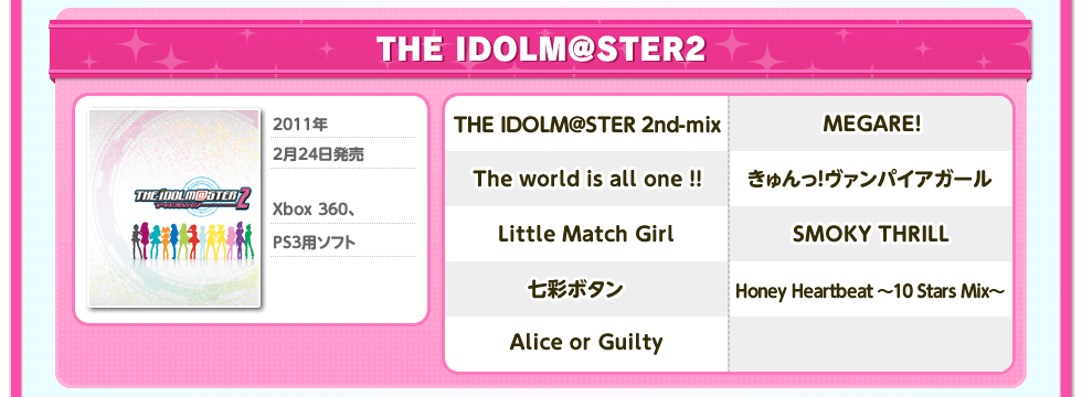 THE IDOLM@STER2